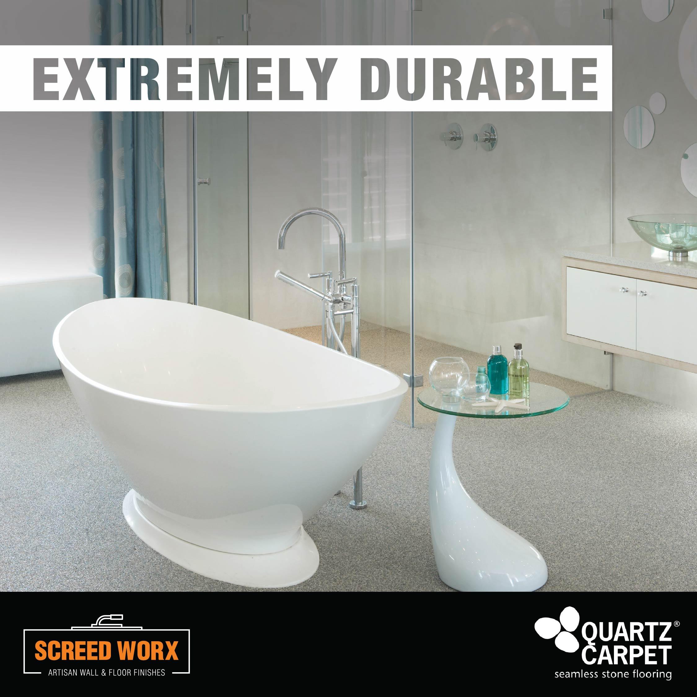 Quartz Carpet in a bathroom