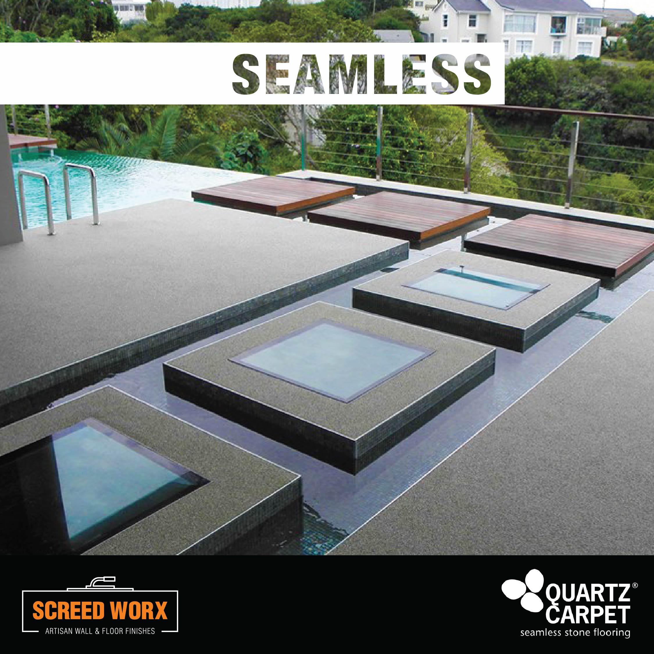 Quartz Carpet around a swimming pool