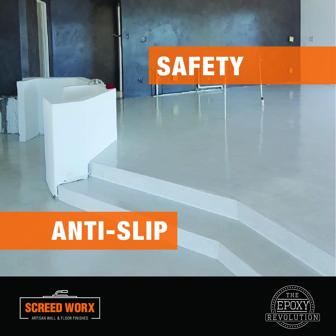 Epoxy flooring anti-slip safety